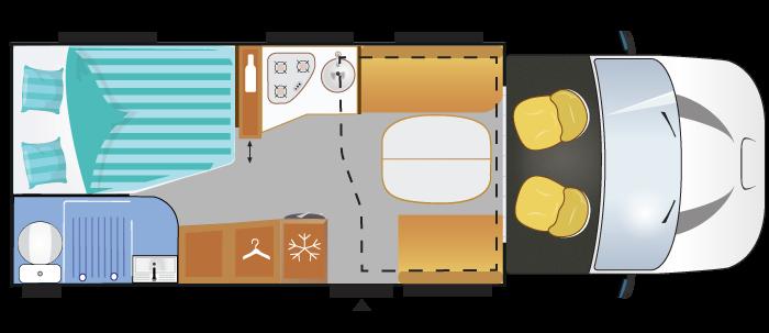 Wohnmobil Aufteilung