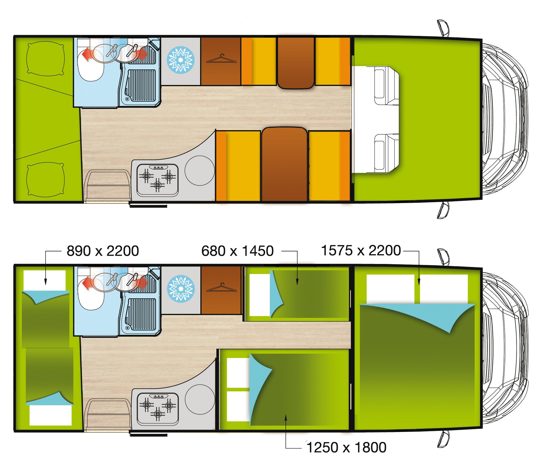Wohnmobil Forster Aufteilung